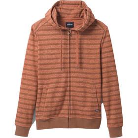 Prana Cardiff Fleece Full Zip Full Zip Jacke Herren cedar stripe